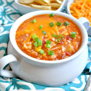 Short-Cut Mexican Chicken and Rice Soup.