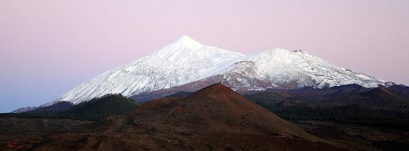 Photo: Snow on Teide and Pico Viejo