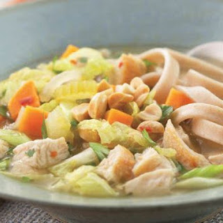 Indonesian Chicken And Soba Noodle Soup