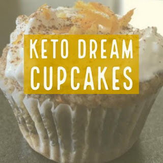 Keto Dream Cupcakes with Cream Cheese Frosting.
