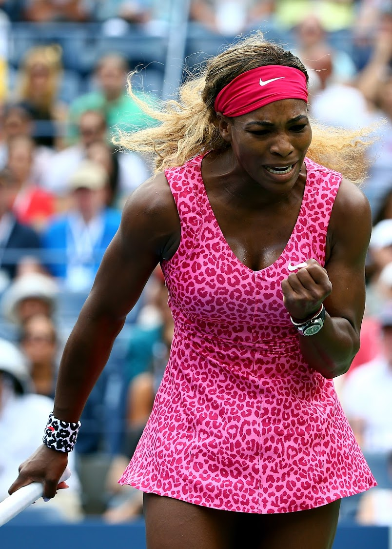 Serena Williams at the 2014 US Open in New York. (Photo by Streeter Lecka/Getty Images)