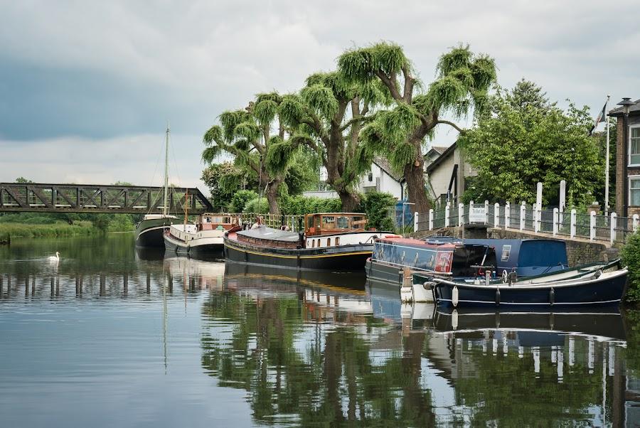 Boats at Ely by Sam Alexander - Transportation Boats