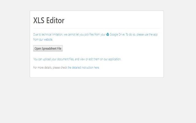 XLS Editor for Google Chrome™
