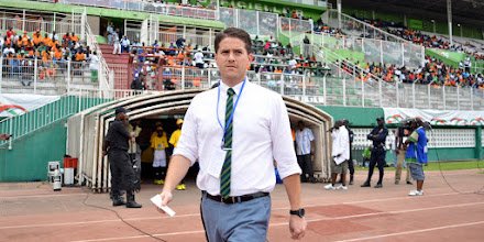 Photo: Head Coach Johnny McKinstry [Leone Stars v Ivory Coast, 6 September 2014 (Pic © Darren McKinstry / www.johnnymckinstry.com)]