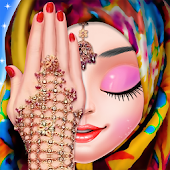 Muslim Hijab Makeover And Hand Art