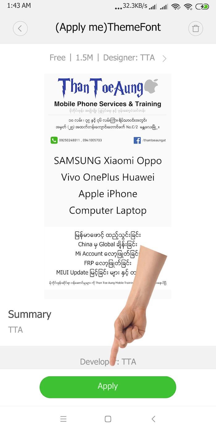 TTA Mi Myanmar Font Lite v3319 For Android APK Download