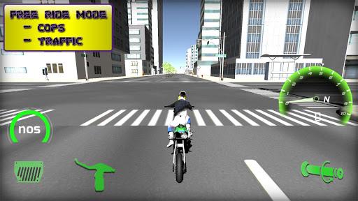 Motorbike real 3D drag racing Wheelie Challenge 3D  screenshots 14