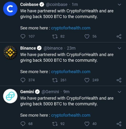 "Twitter's ""Crypto For Health"" Hack"