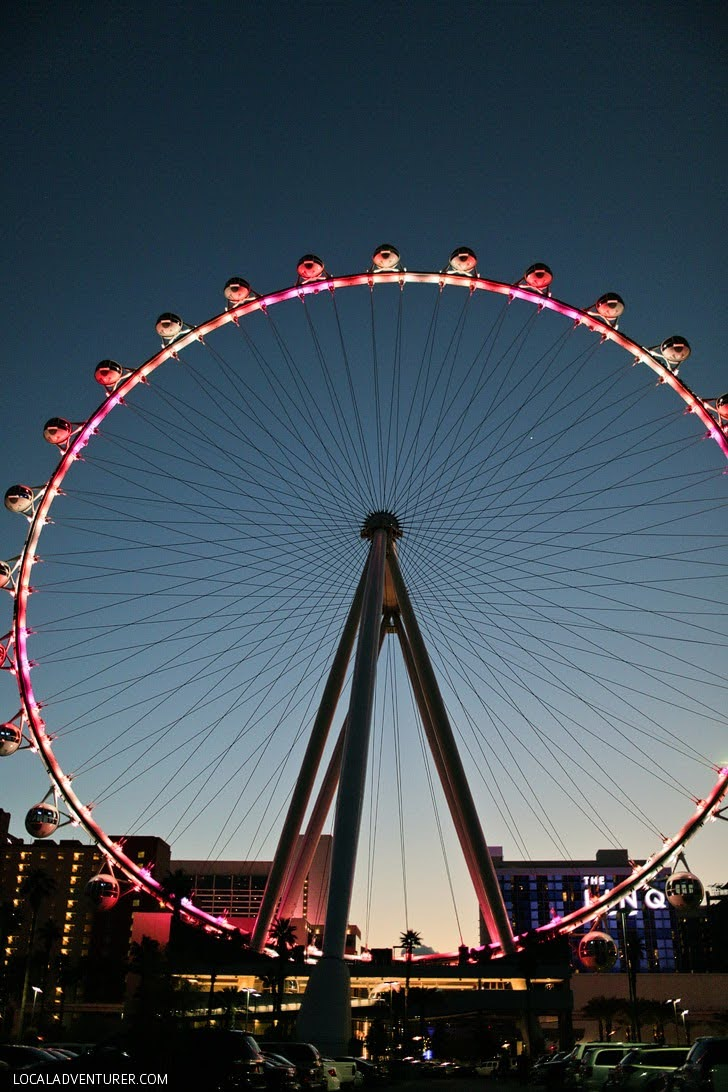 The High Roller Las Vegas - the Biggest Ferris Wheel in the World.