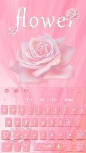 Flower Pink Keyboard - náhled