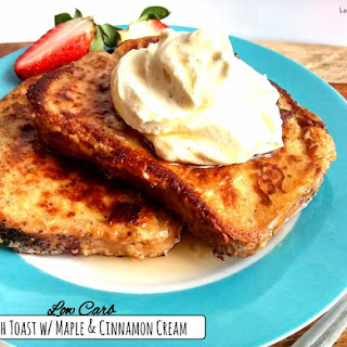 French Toast w/ Maple & Cinnamon Cream