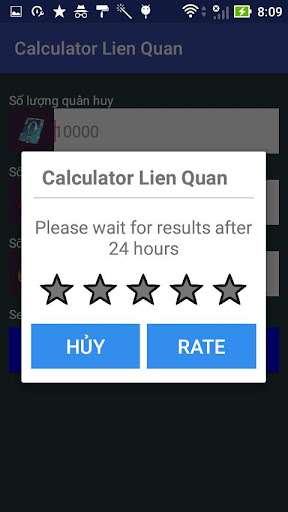 Quan Huy Lien Quan Mobile Calculator for PC