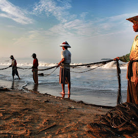 Fisherman by Jules Jal - Novices Only Portraits & People