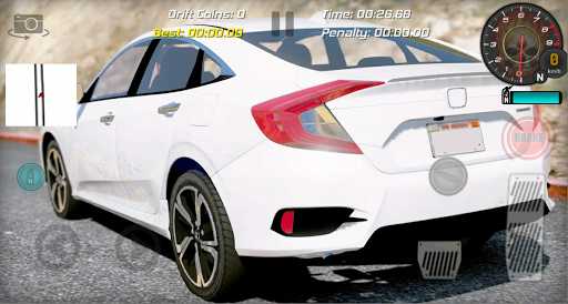 Realistic Car Racing Drift Game Civic captures d'u00e9cran 1