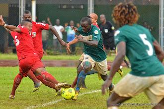 Photo: Mustapha 'Haji' Bangura [Leone Stars Vs. Equatorial Guinea, 7 Sept 2013 (Pic: Darren McKinstry)]