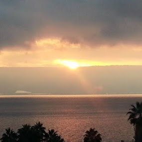 The Horizon of Sea of Galilee by Madeleine Wah - Landscapes Sunsets & Sunrises