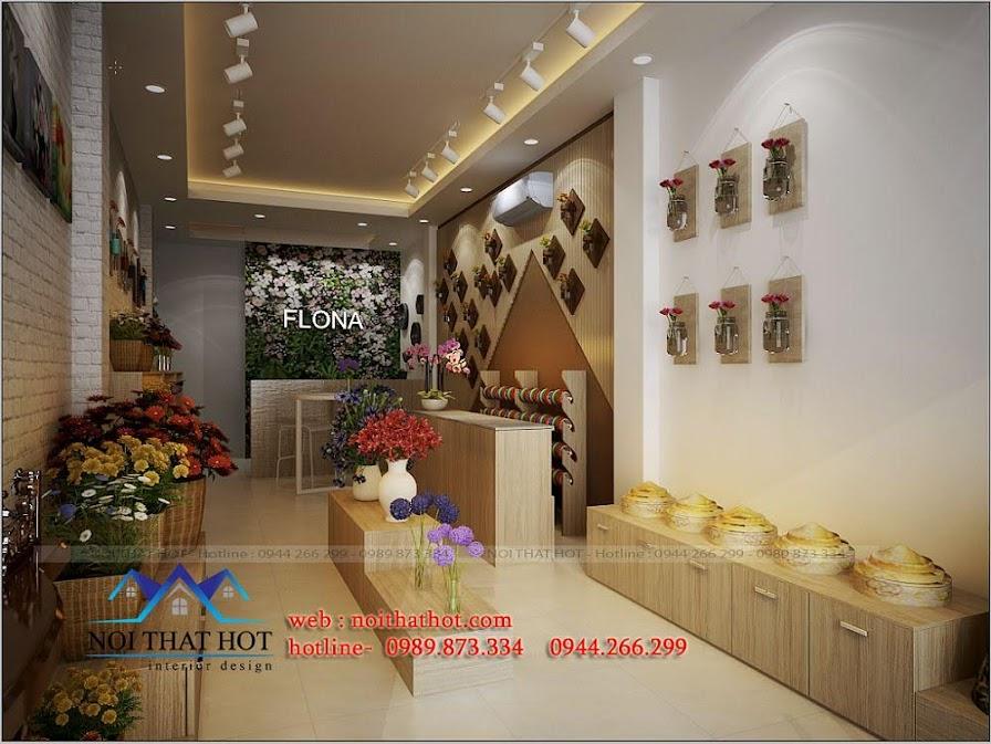 thiết kế cửa hàng hoa tươi cao cấp
