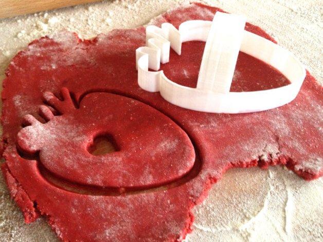 """3D модель """"Дыра в моем сердце"""", формочка для печенья"""