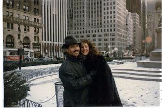 Photo: Gerald and Trisha Posner, NYC, 1988.