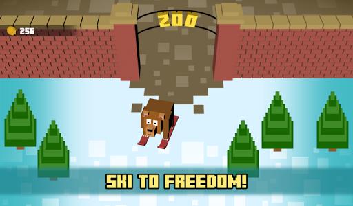 Zoo Skiing - Crossy Slopes! screenshot 0