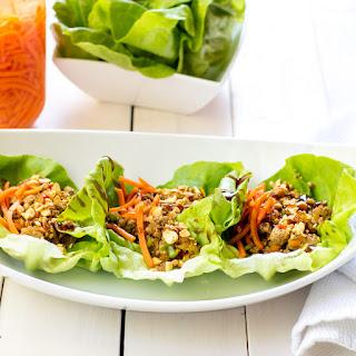 Keep'n-it-healthy Asian Lettuce Wraps.