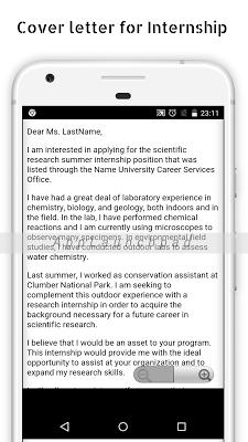 Cover letter samples - screenshot