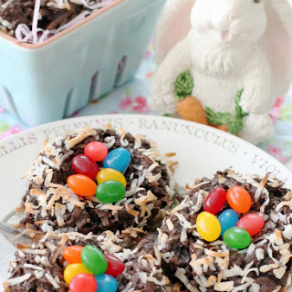 Dark Chocolate Macaroon Nests with Starburst® Jellybeans