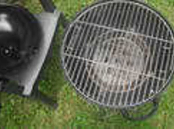 """on a warm to hot grill """"no flames"""" rub grill grates with aluminum foil..."""