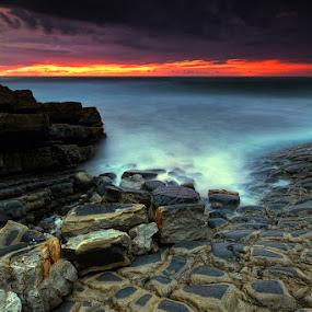 Broken by Hugo Marques - Landscapes Waterscapes ( waterscape, dark, ocean, seascape, drama )