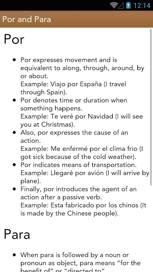 Spanish Class- screenshot
