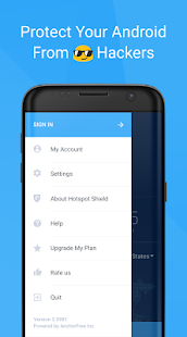 Hotspot Shield Free VPN Proxy & Wi-Fi Security Screenshot