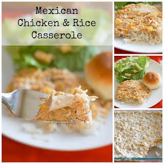 Mexican Chicken & Rice Casserole.