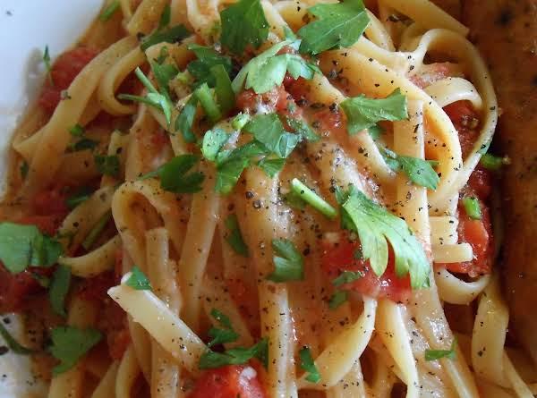 Tomato Asiago Fettuccine & Italian Chicken Sausage