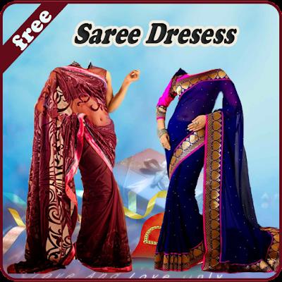 Saree Dresses Photo Montage