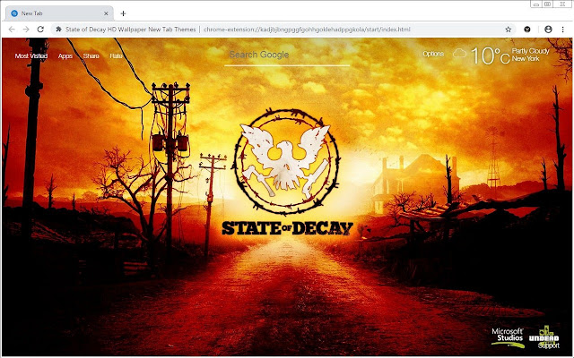 State of Decay HD Wallpaper New Tab Themes