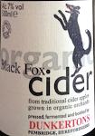 Dunkertons Organic Black Fox Cider