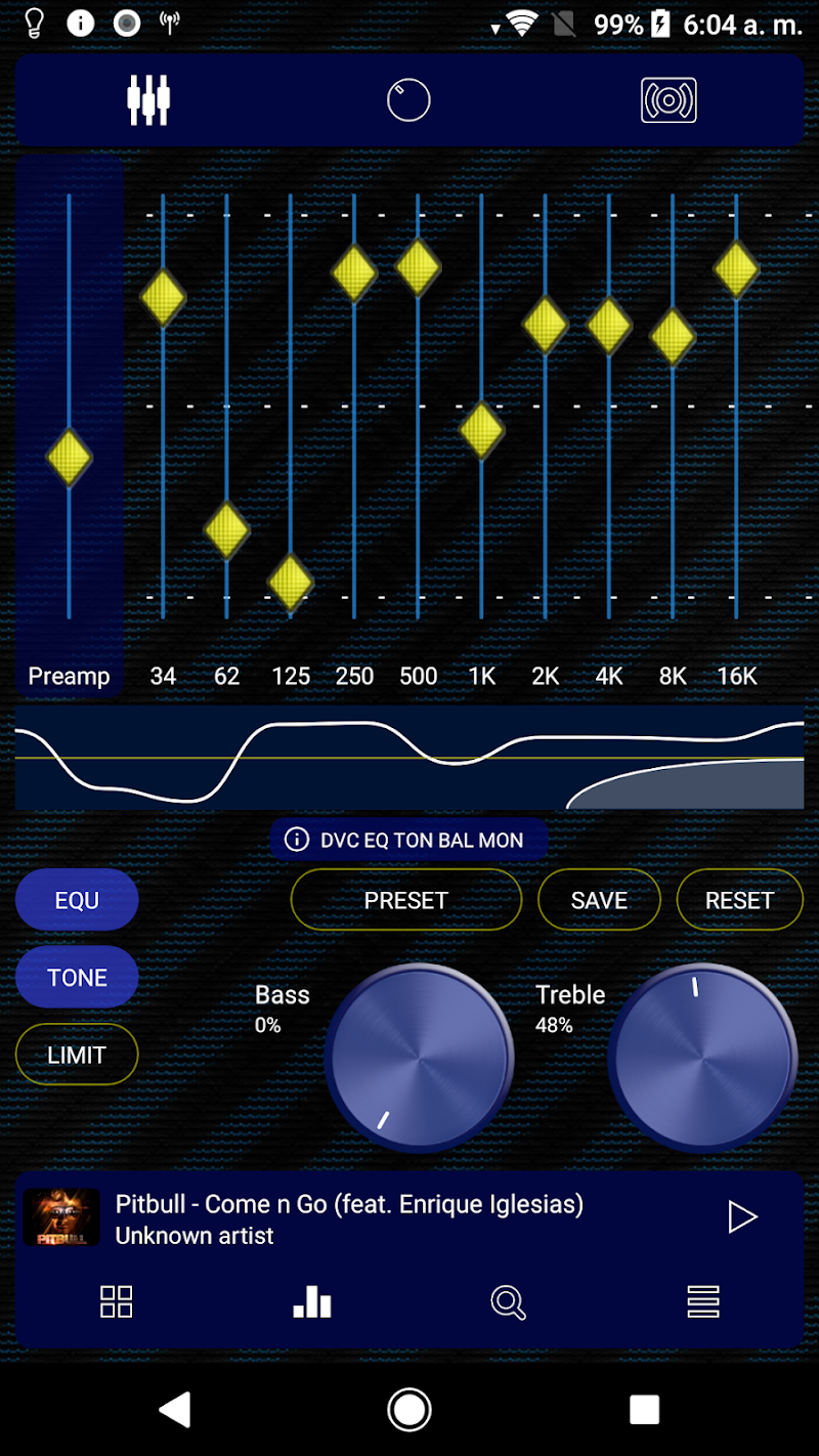 Poweramp v3 skin blue carbon Screenshot 8