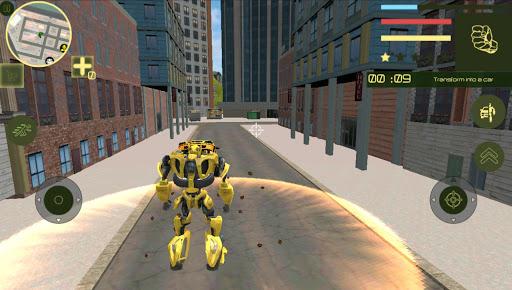 Golden Robot Car Transforme Futuristic Supercar 1.2 4