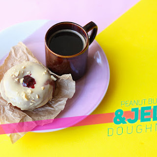 Peanut Butter & Jelly Doughnuts!