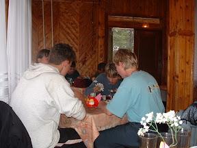 Beim Abendbrot: Es gab ein 3-Gänge-Menue, welches so opulent wie ein Mittagessen war.