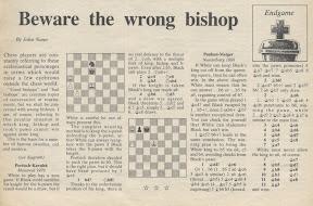 Nunn, Chess Express Column