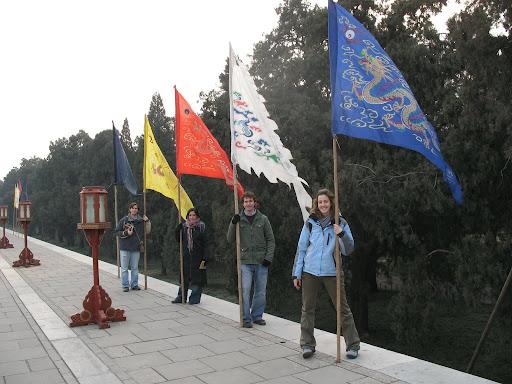 Banderas en el Templo del Cielo