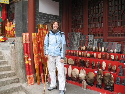 Incienso y bastones en Taishan