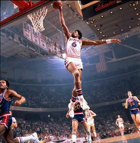 [NBA]傳奇三巨頭:Jabbar、Bill Russell和Dr. J近照