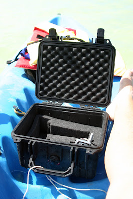 Pelican case to keep camera dry