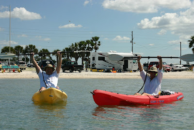 Kayaking to Caladesi Island