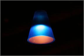 Синий фонарик