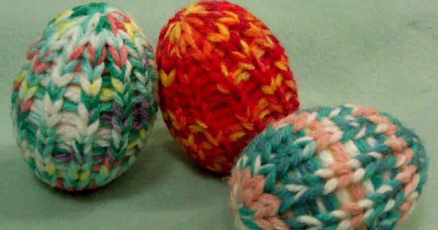 Knitting Easter Eggs : Loom lore the easter egg reborn