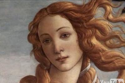 芸術的な女性の絵をモーフィングでつないだ映像