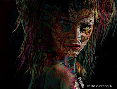 神秘なカラーリングを使う「neil duerden」のアート